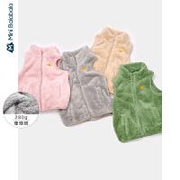 【2件3折�r:41.7元】迷你巴拉巴拉�和��R甲男女童上衣冬�b新款����珊瑚�q保暖背心