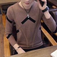 夏季薄款长袖线衣男修身型百搭毛衣男士韩版潮流圆领套头毛线衣服