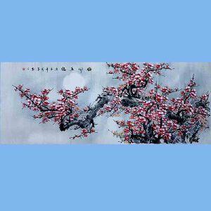中国书画家协会理事,长安东方书画院院长,长安东方书画院实力派画家田成喜(梅开五福)