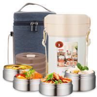 日本泰福高新保温饭盒不锈钢3-4层保温盒成人保温桶便当盒1.5L/2L 、2.3L