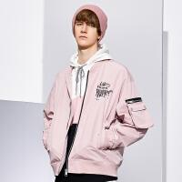 Lilbetter男士外套2020新款潮牌春装休闲帅气外衣短款飞行员夹克