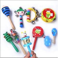 一岁以下宝宝手拿玩具 手摇鼓男女宝宝早教小铃铛手抓玩具婴儿摇铃儿童拨浪鼓3-6-12个月