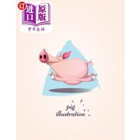 【中商海外直订】Pig Illustration: Flying Pig on Pink Cover and Dot