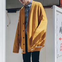 学院风V领针织开衫男士秋季新款长袖毛衣外套韩版潮流针织衫衣服