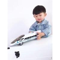 男孩和谐号列车动车组火车头火车玩具车儿童惯性车故事音乐车