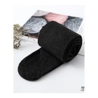 日系秋冬季加厚燕麦白色连裤袜女显瘦竖条纹奶咖色打底袜子咖啡色