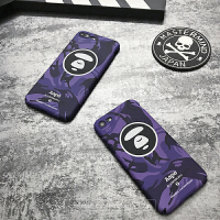 aape手机壳iphone7苹果6splus个性迷彩夜光6硬壳套情侣余文乐 苹果6/6s 骚紫 4.7寸