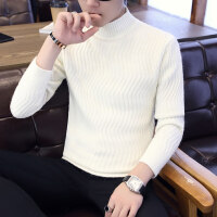 秋季半高领毛衣男士韩版宽松2018新款潮流线衣男装针织衫冬季外套