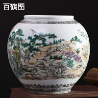 景德镇陶瓷器仿古百子图大花瓶插花中式古典客厅家居装饰摆件礼物