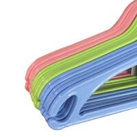 【教师节礼物】茶花 塑料晾衣架 家用肩挂衣架衣服撑子防滑衣服20支 颜色随机 20个