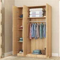 简易衣柜现代简约实木组装出租房用木质可拆卸儿童柜子卧室衣橱