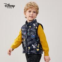 【2件4折券后价:111.1元】迪士尼街头狂欢男童梭织轻薄立领羽绒马甲