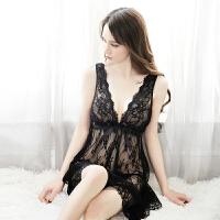性感睡衣吊带女士睡裙套装情趣内衣女极度诱惑蕾丝网纱