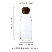 储物罐无铅玻璃家用干果杂粮茶叶收纳瓶软木塞咖啡豆香料密封罐