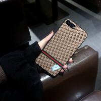 苹果8plus手机壳iPhoneX潮牌奢华玻璃镜面7p潮牌欧美6s挂绳男女款