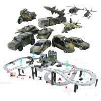 收费站玩具 高速公路模型 合金轨道车消防赛车警察工程套装停车场电动小火车儿童玩具