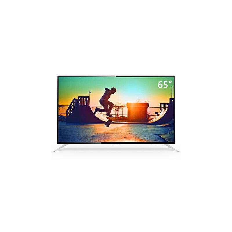 飞利浦(PHILIPS)65PUF6112/T3 65英寸 4K超高清 HDR 智能液晶电视机 黑色 官方授权,镇村可达