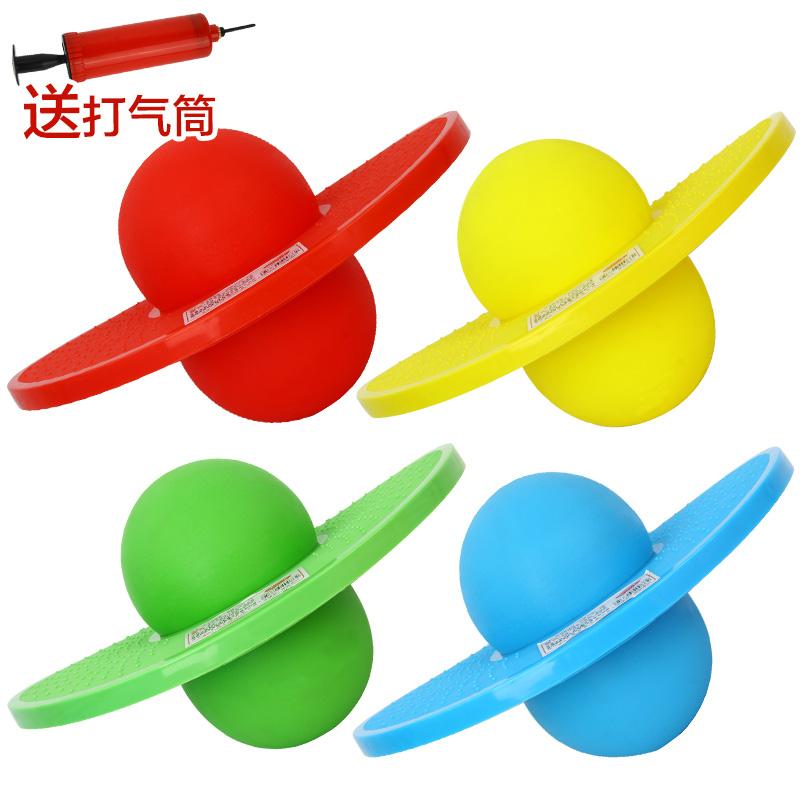 防爆夹脚跳跳球加厚儿童蹦蹦球活力幼儿园健身球 送打气筒益智玩具限时钜惠