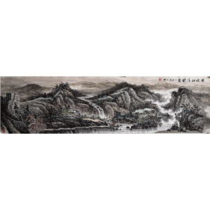 1.8米《新安江清韵图》王开城-一级美术师 安徽美协会员R王开城7