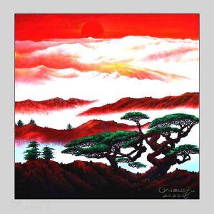 张大千真传弟子之一,中国国家风水画首席大师,著名书法家画家,中国书法家协会副主席,中国艺术书画院特聘画家(日出不穷)