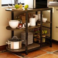 厨房置物架微波炉落地架厨房电器层架收纳储物架碗架烤箱架