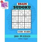 【中商海外直订】Brain Sudoku Very Hard 200 Puzzles: Puzzles Books L