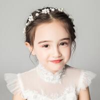 儿童配饰头饰发箍女孩花环花童舞台演出发饰头箍白色