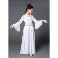 儿童古装小七仙女公主裙古筝表演服古代唐装汉服贵妃服小女孩古装