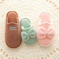 冬季韩版可爱居家室内儿童棉拖鞋女童家用fang滑保暖亲子鞋男童冬天