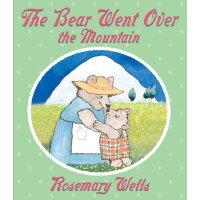 英文原版 小熊登山 经典童谣 绘本 纸板书 The Bear Went Over the Mountain by Ro