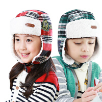kk树男女儿童帽子冬潮宝宝帽子秋冬蒙古帽护耳保暖加厚