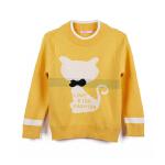 【限时秒】女童毛衣套头小女孩卡通针织衫2019新款