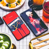 可口可乐 iPhone X手机壳苹果7p/8p钢化玻璃保护套6/6sp软包防摔