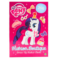 小马宝莉着装打扮贴纸书 英文原版 Fashion Boutique Dress-Up Sticker Book My