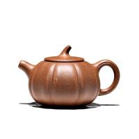 宜兴紫砂壶茶壶原矿全手工老段泥南瓜壶130毫升