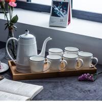 简约杯子套装家用杯具茶具客厅冷水壶凉水壶陶瓷茶杯水杯套装