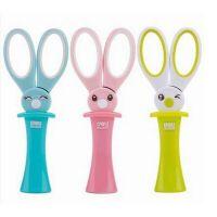 得力6065魔法小兔子剪刀 儿童可爱卡通造型剪刀 安全护套手工剪刀