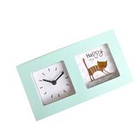 儿童闹钟 创意学生床头闹钟 金属机器人可爱桌面卧室闹钟表送孩子送朋友新年礼物