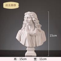 家用欧式雕像石膏像办工作摆件创意艺术品现代简约客厅酒柜家居装饰品SN8989