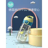 KUB可��比�和�水杯PPSU吸管杯����防摔��嘴杯外出便�y�料杯夏季