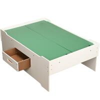 儿童大号游戏桌带抽屉宝宝木质托马斯轨道积木多功能玩具桌子定制 桌子