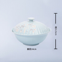 日式手绘面碗陶瓷餐具碗盘子米饭碗