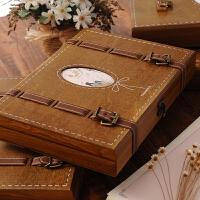 同学录 复古木盒同学录唯美个性活页留言册盒装中学生毕业礼品纪念册