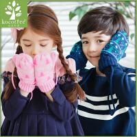 新款儿童手套保暖冬季男童女童小孩手套加绒fang寒学生手套