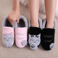 全包跟棉拖鞋韩版厚底冬季毛毛可爱居家室内棉鞋女孩