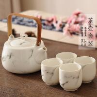 功夫茶具套装家用茶具花茶杯具套装日本茶道陶瓷套装茶壶水杯