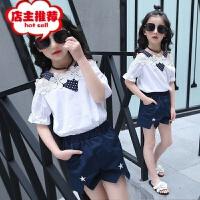女童夏装套装2019新款韩版中大童潮女孩夏季短袖休闲两件套批发