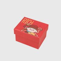 礼品盒*物简约清新卡通生日唇膏口红包装袋喜糖果小纸盒子1 小单盒9*6*6(不含礼袋碎纸)