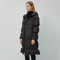 伊芙丽新款修身显瘦中长款羽绒服加厚保暖外套女1A7982251