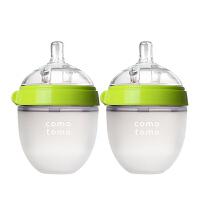 保税区发货Comotomo可么多么Natural Feel系列 硅胶奶瓶 绿色 150ml(2个装)包邮包税